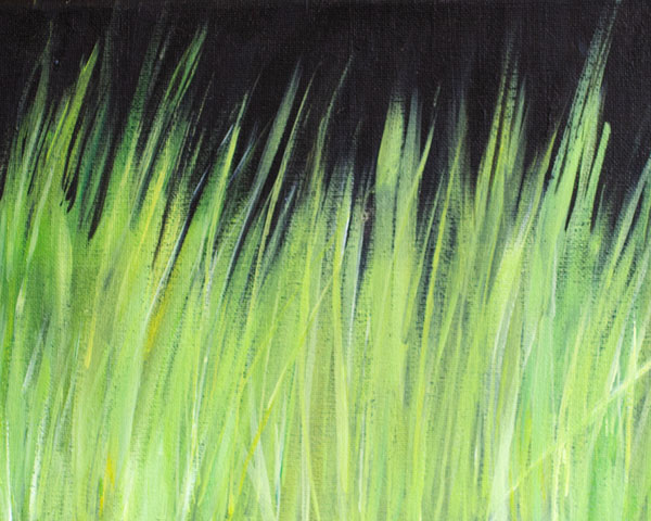 painting of grass